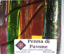 FUSED GLASS PENNA DI PAVONE