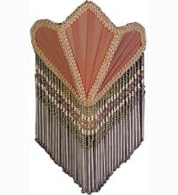 FABRIC & FRINGE PINK FAN