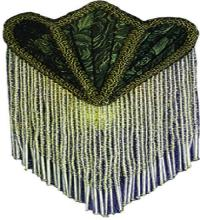 FABRIC & FRINGE GREEN PONTIFF