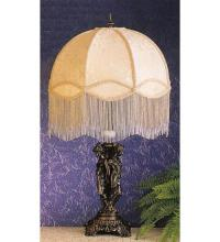 FABRIC & FRINGE TAPESTRY DOME IVORY