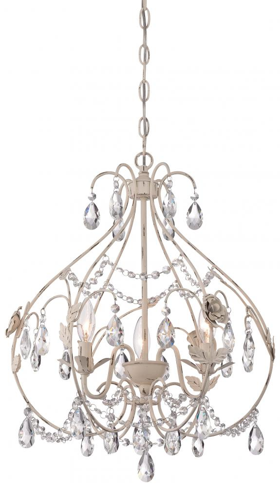 MNK 3154-648 3 Light Mini Chandelier 3X60B10.5, Candelabra