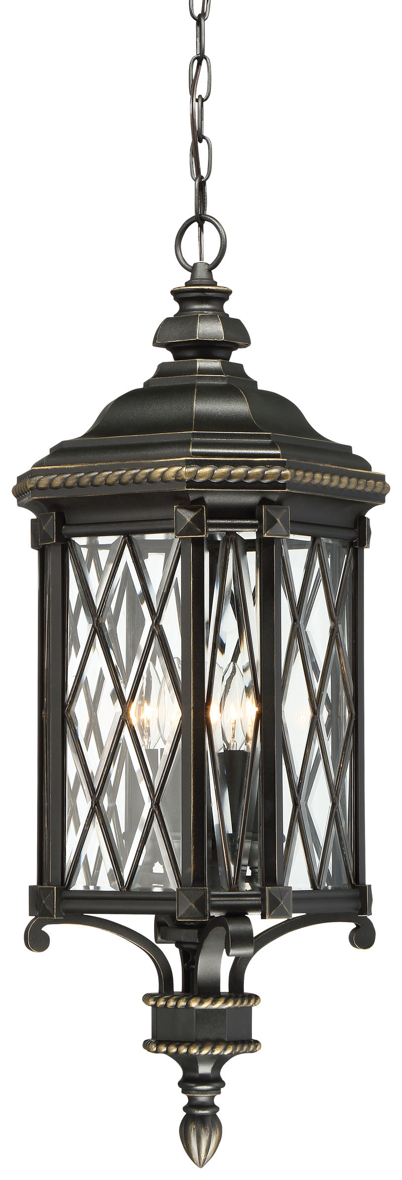 MNK 9324-585 BEXLEY MANOR 4 LIGHT CHAIN HUNG 4X40B10.5, Candelaba