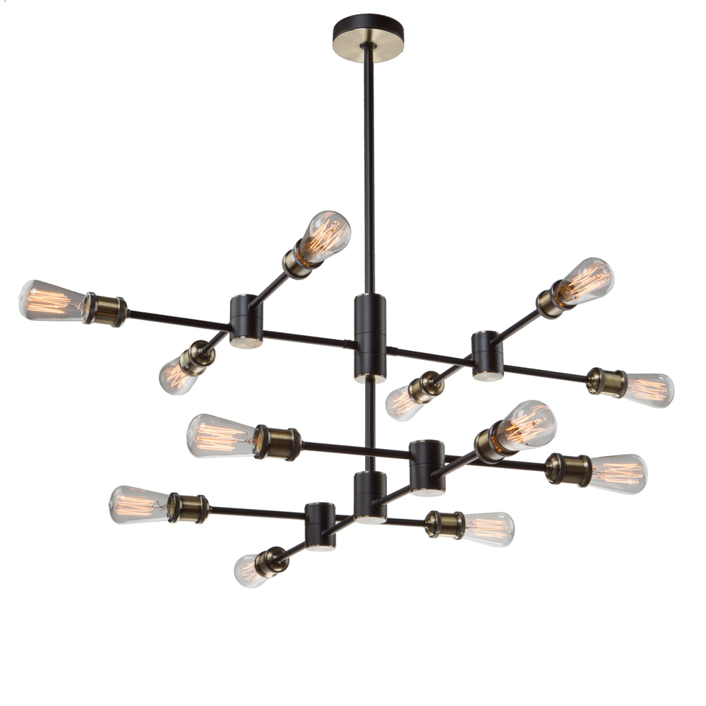 Artcraft Lighting AC10782BK Tribeca AC10782BK Chandelier 12X100Medium