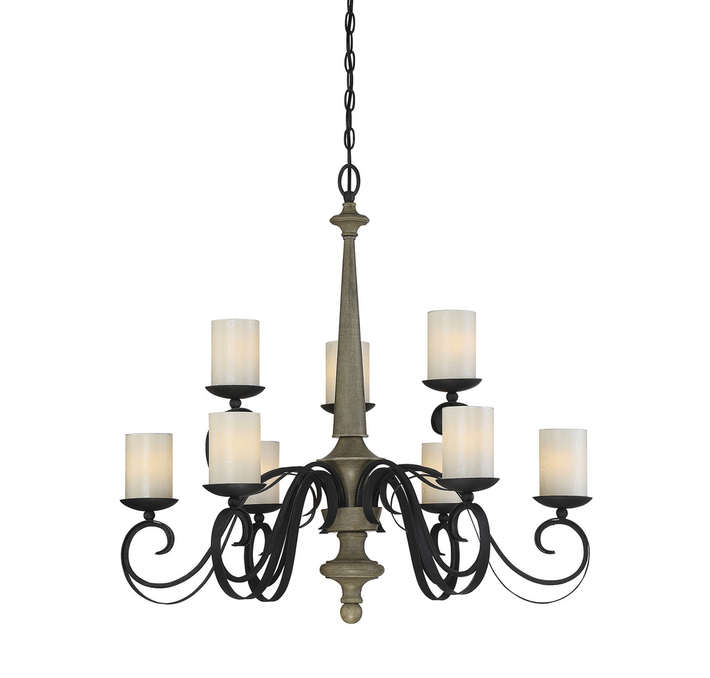RGU 1-2001-9-66 Hamlin 9 Light Chandelier Discontinued by the MFG 01 2018