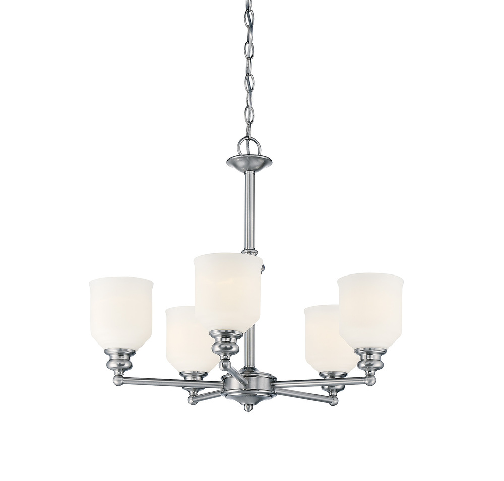 RGU 1-6837-5-11 Melrose 5 Light Chandelier 5X60Edison
