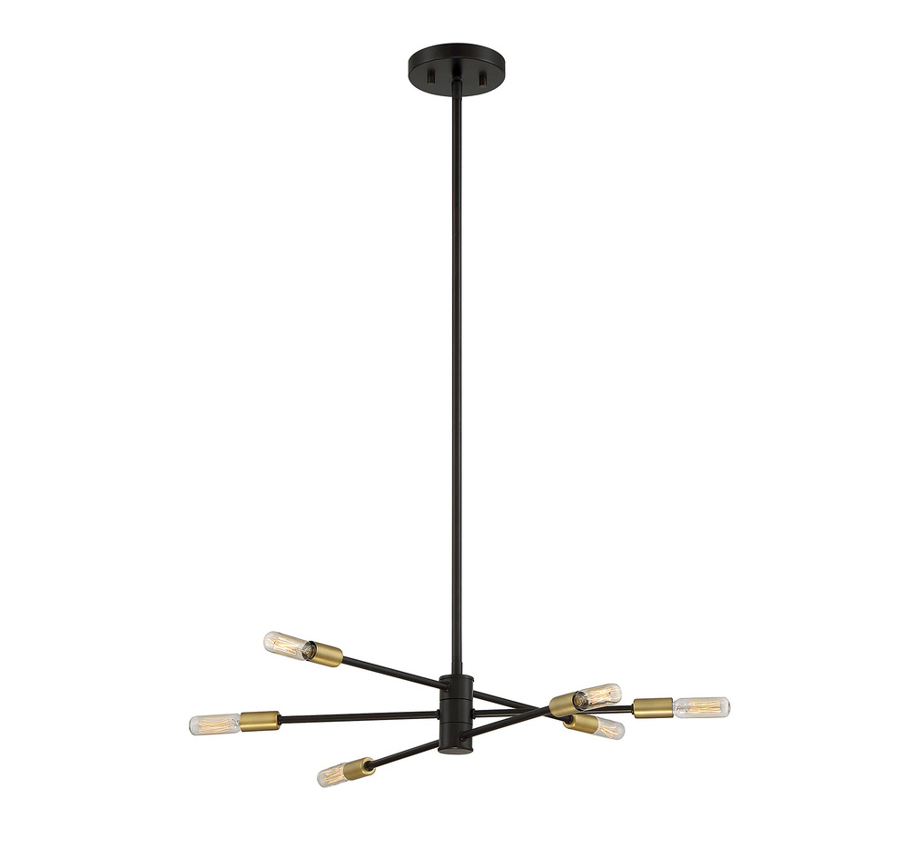 RGU 1-7000-6-77 Lyrique 6 Light Chandelier 6X60Candelabra