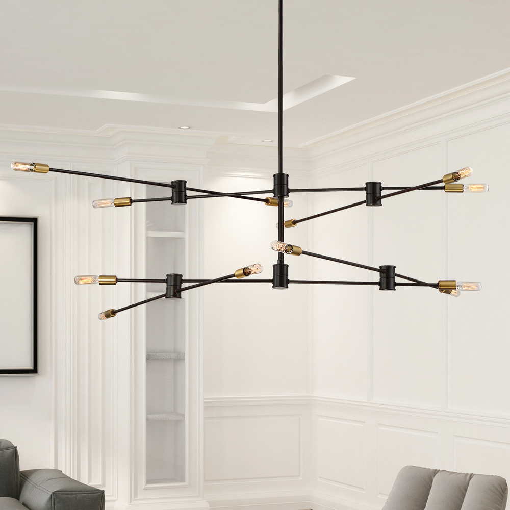 RGU 1-7001-12-77 Lyrique 12 Light Chandelier 12X60Candelabra