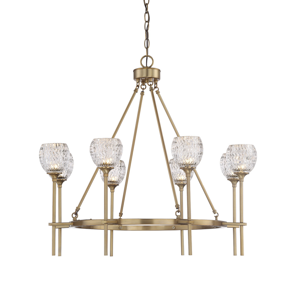 RGU 1-9100-8-322 Garland 8 Light Chandelier 8X60G9 H