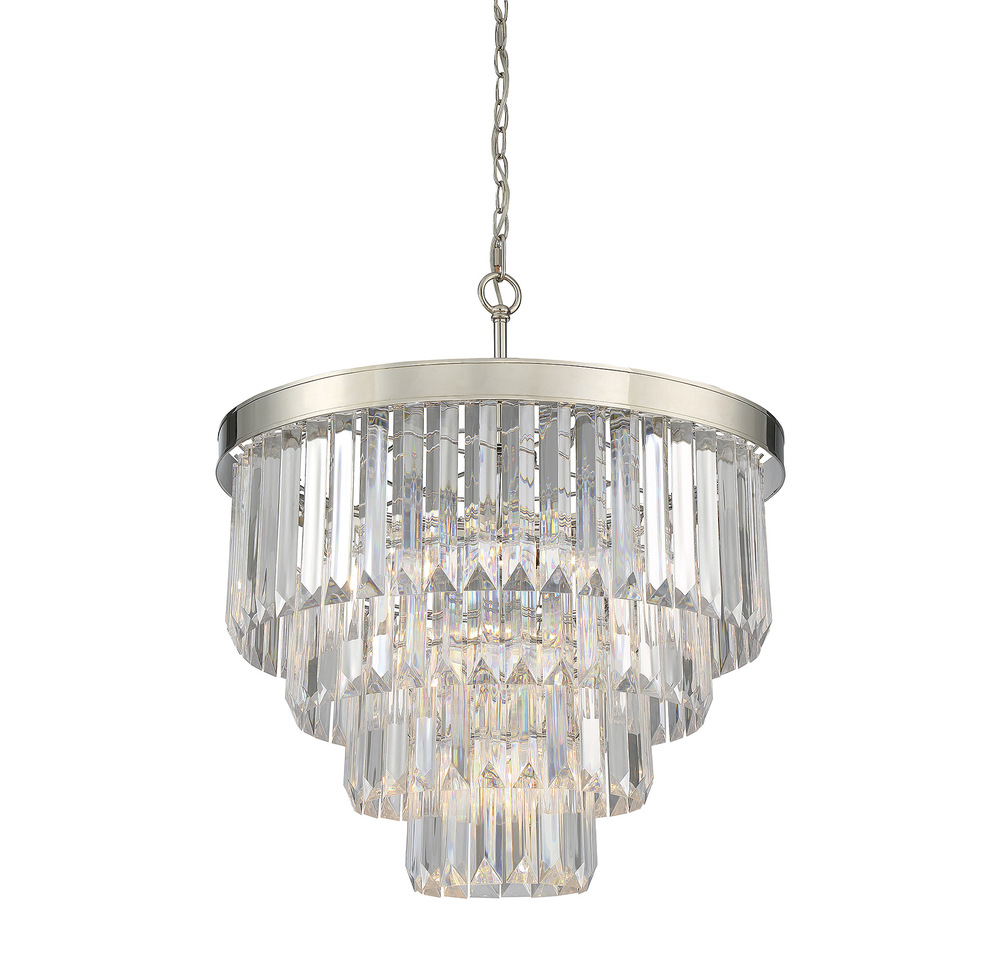 "RGU 1-9800-6-109 6Lt Chandelier Polished Nickel 28"" H x 25"" W 60C"