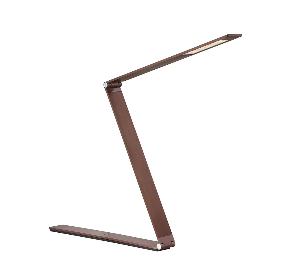 RGU 4-2000-BZ Fusion LED Rose Gold Bronze Desk Lamp 17 3/4