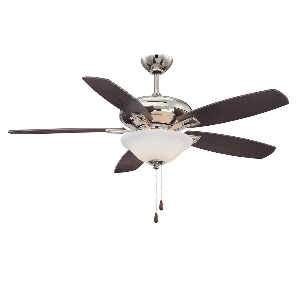 RGU 52-831-5RV-109 Polished Nickel Ceiling Fan 3X60C
