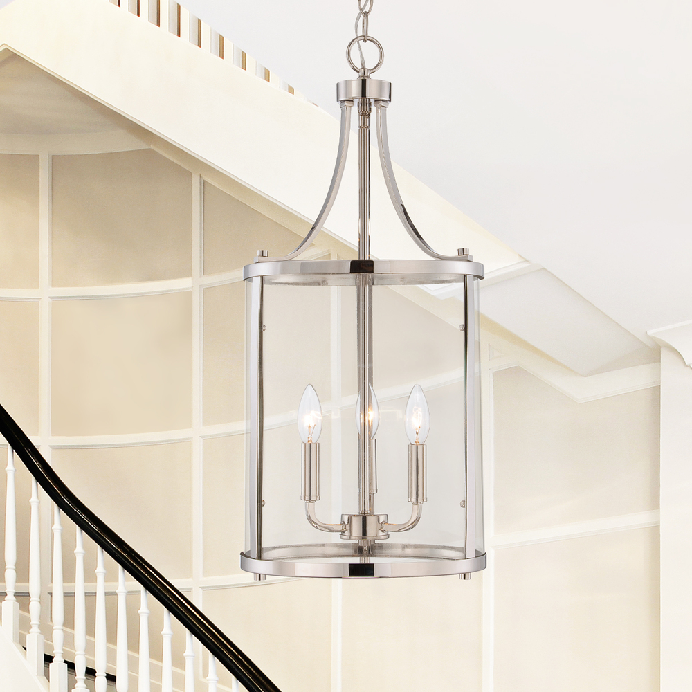 RGU 7-1040-3-109 Penrose 3 Light Small Foyer Lantern 3X60Candelabra