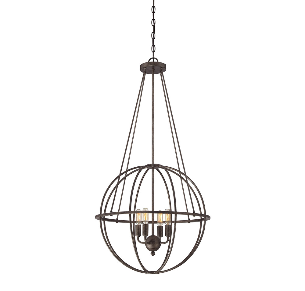 RGU 7-581-4-42 Elgin 4 Light Pendant 4X60C