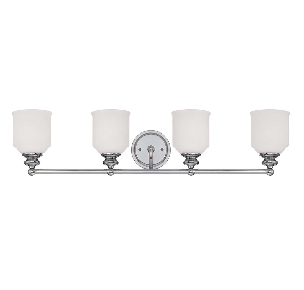 RGU 8-6836-4-11 4X100M Melrose Polished Chrome Bath Vanity Light