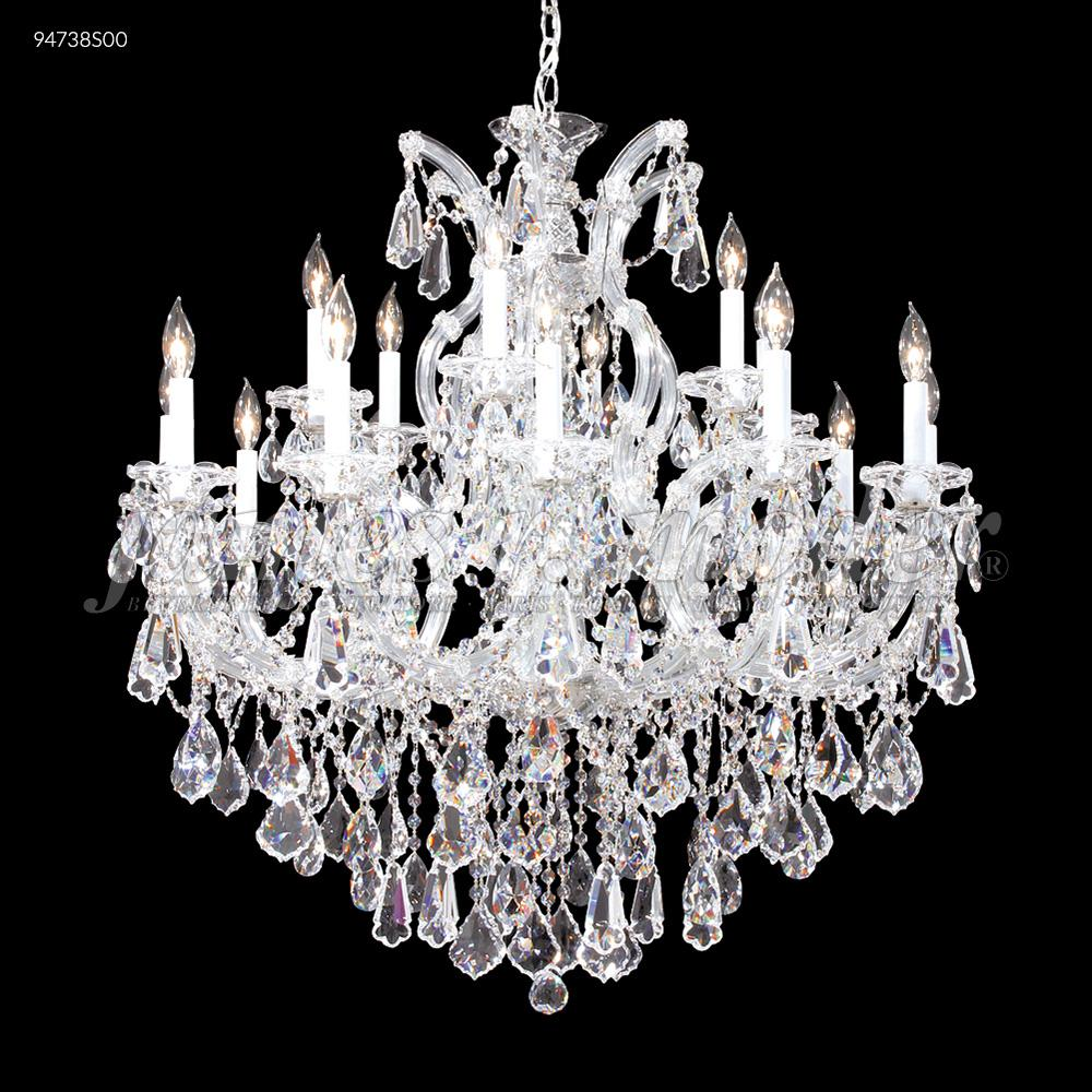 JAM 94738S00 18-LIGHT CHANDELIER, MARIA THERESA STRASS CRYSTAL SILVER FINISH *** All Sales Final *** *** Display Only ***