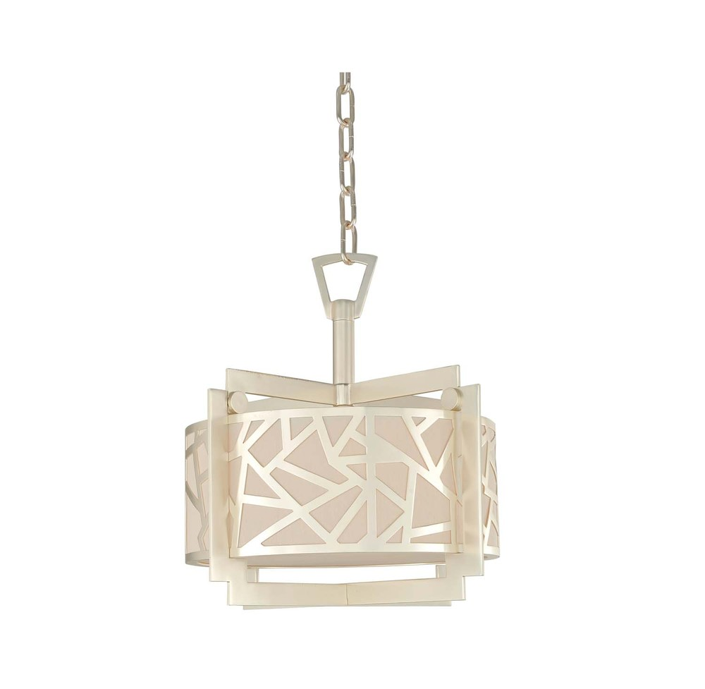 KAL 303552RS MIramar Rose Silver 3Lt Convertible Pendant/ Semi Flush 63