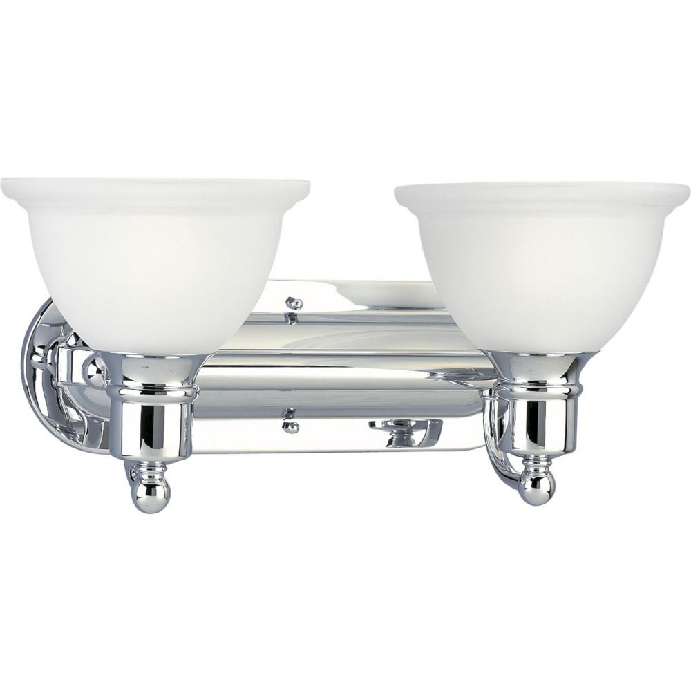 Progress Lighting P3162-15 2X100M Madison Polished Chrome Bath Vanity Light