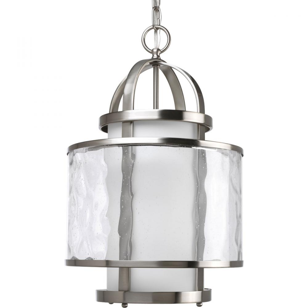 PRO P3701-09 1X100M Bay Court Brushed Nickel Pendant