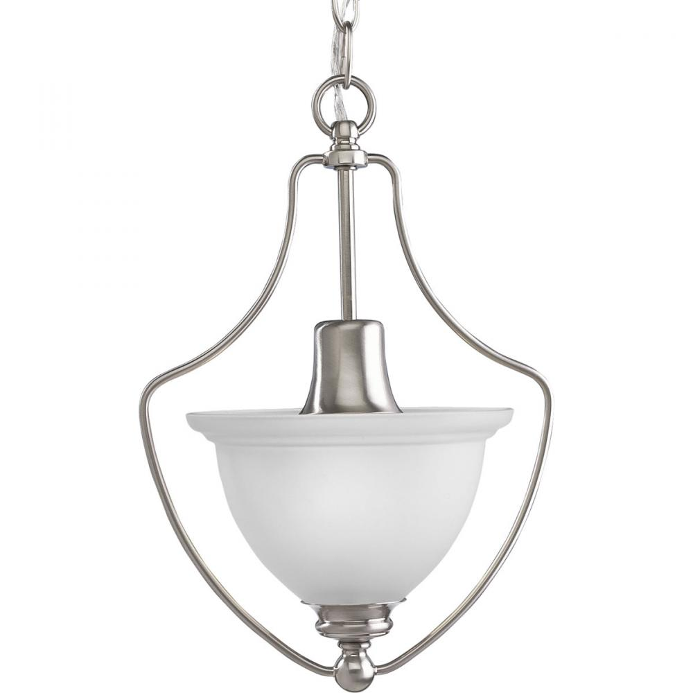 PRO P3792-09 1X75M Madison Brushed Nickel Etched Glass Pendant