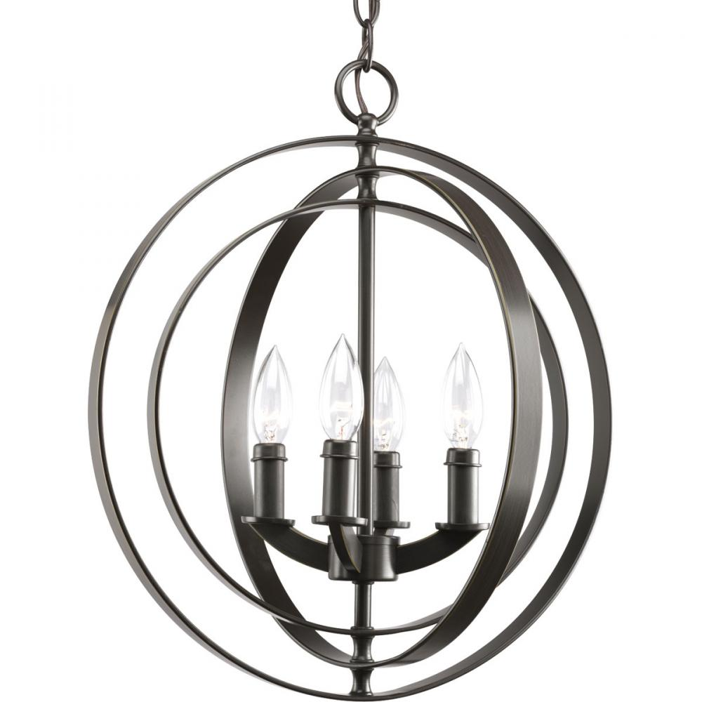 PRO P3827-20 4X60C Equinox Antique Bronze Chandelier