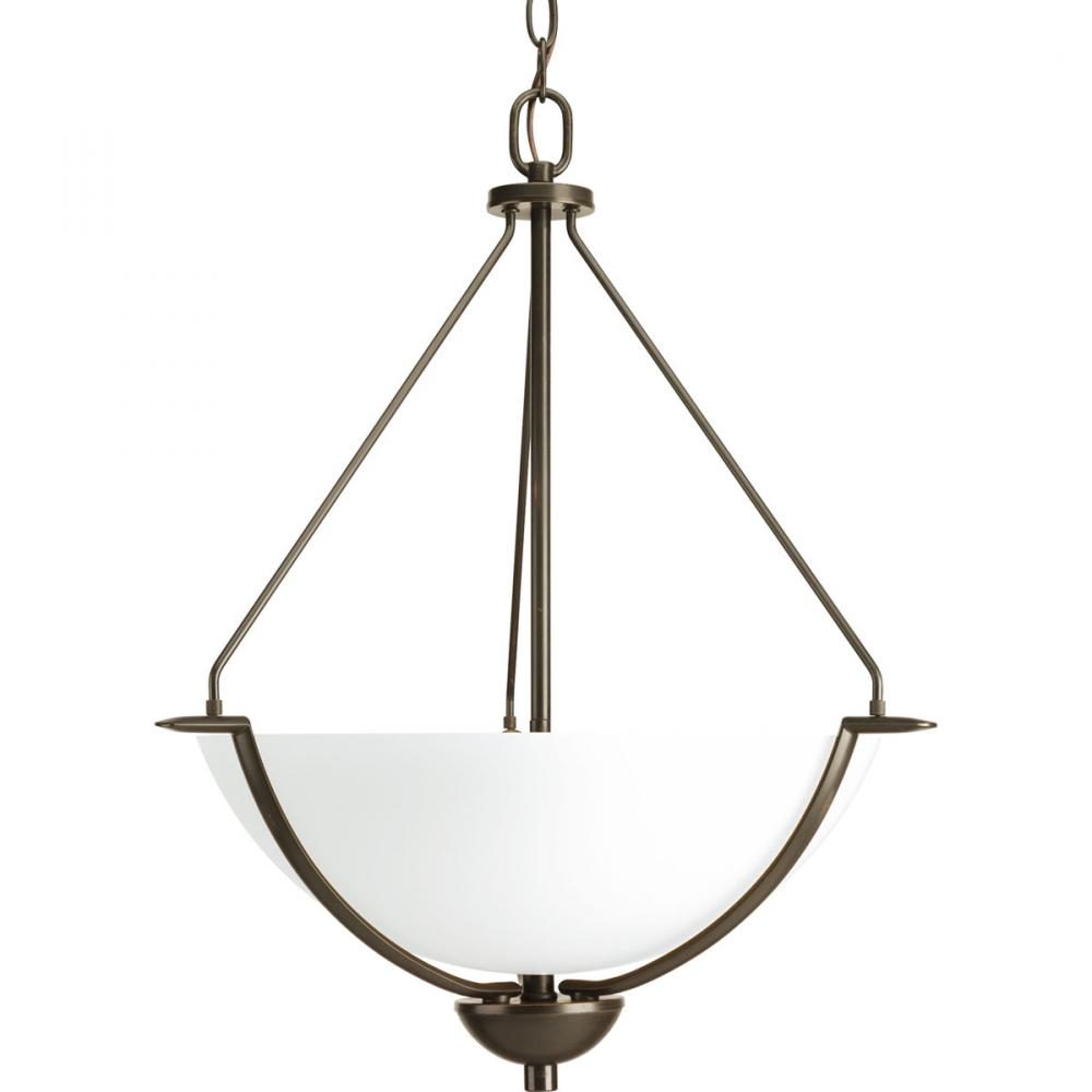 PRO P3912-20W 3X100M BRAVO PENDANT BRONZE WITH WHITE GLASS