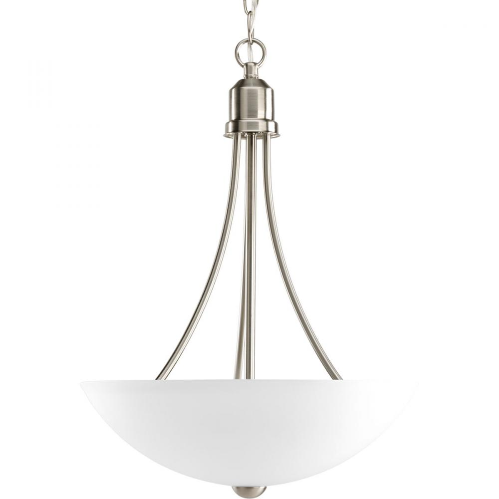 PRO P3914-09EBWB Two Light Brushed Nickel Etched Glass Gather Pendant 2X13GU24 incl