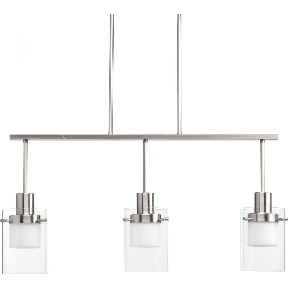 PRO P400000-009-30 LED Moderna Brushed Nickel Linear Chandelier