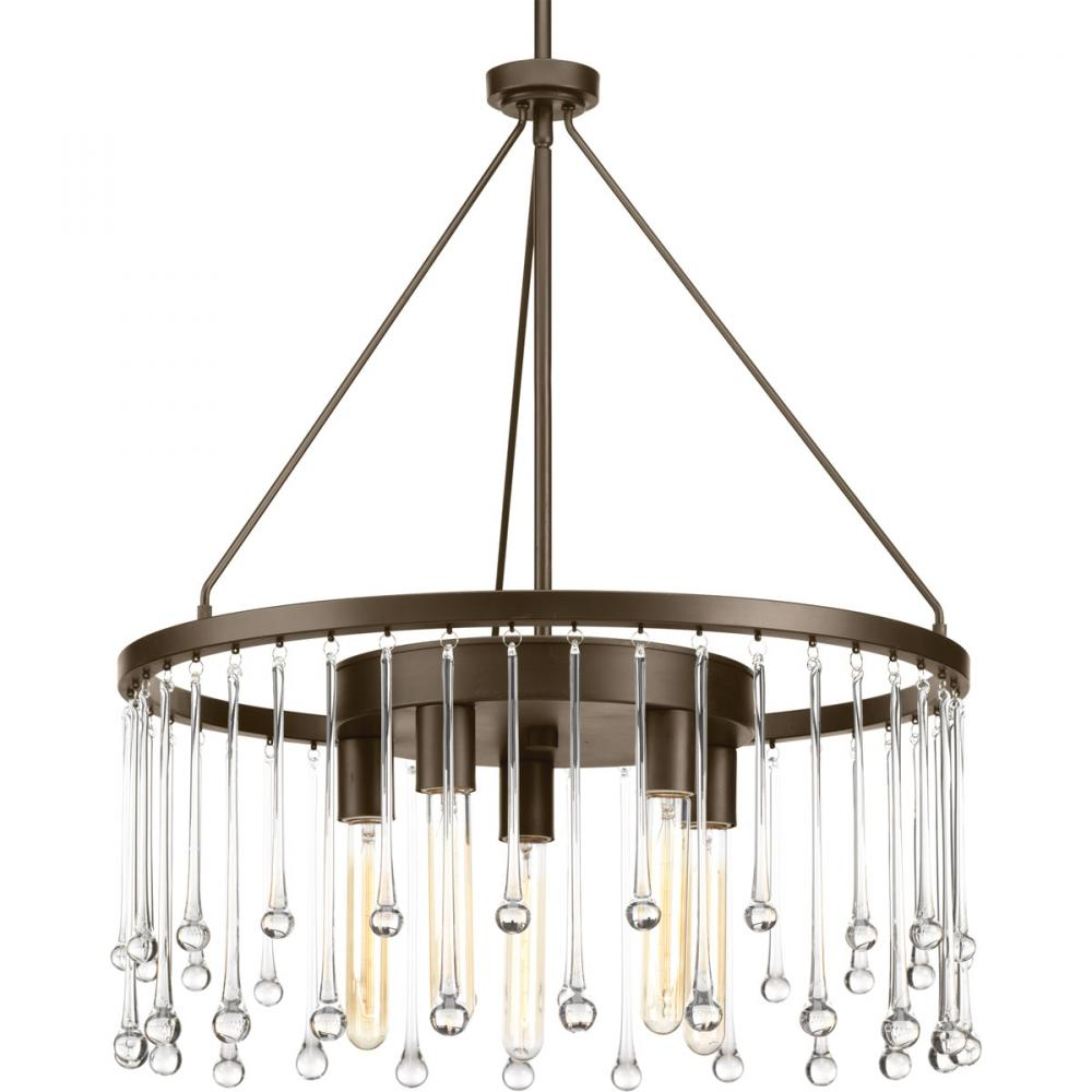 PRO P400007-020 5X60M Sway Antique Bronze Chandelier