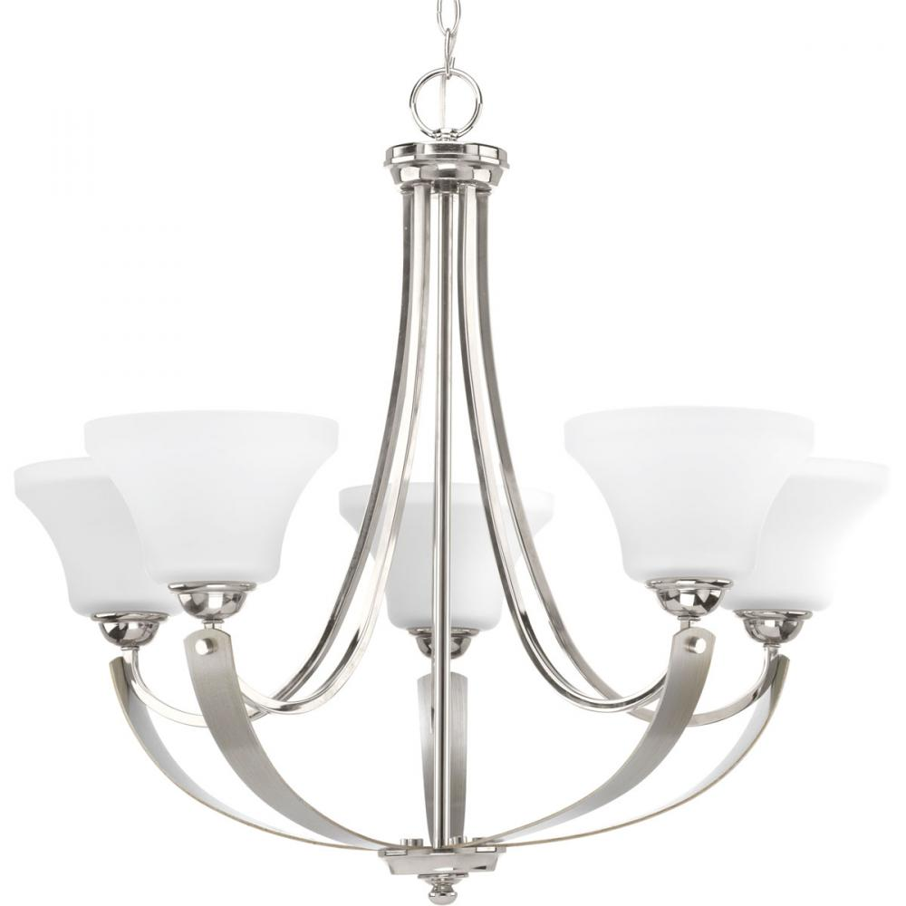 PRO P400012-104 5X100M Polished Nickel Noma Chandelier