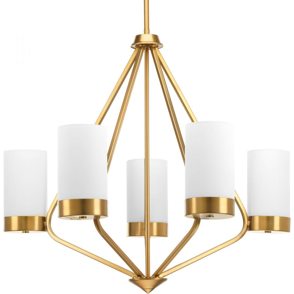 PRO P400022-109 5X100M Elevate Brushed Bronze Chandelier
