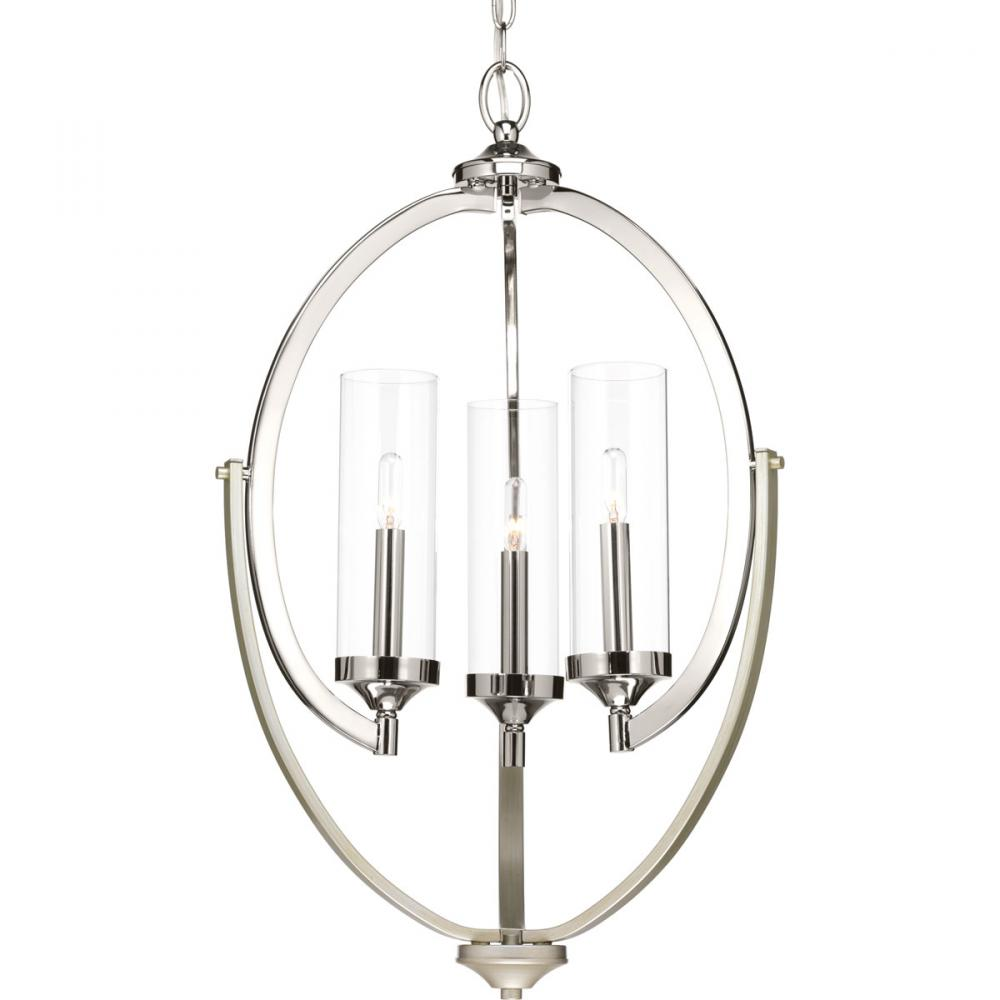 PRO P400024-104 3X60C Evoke Polished Nickel Chandelier