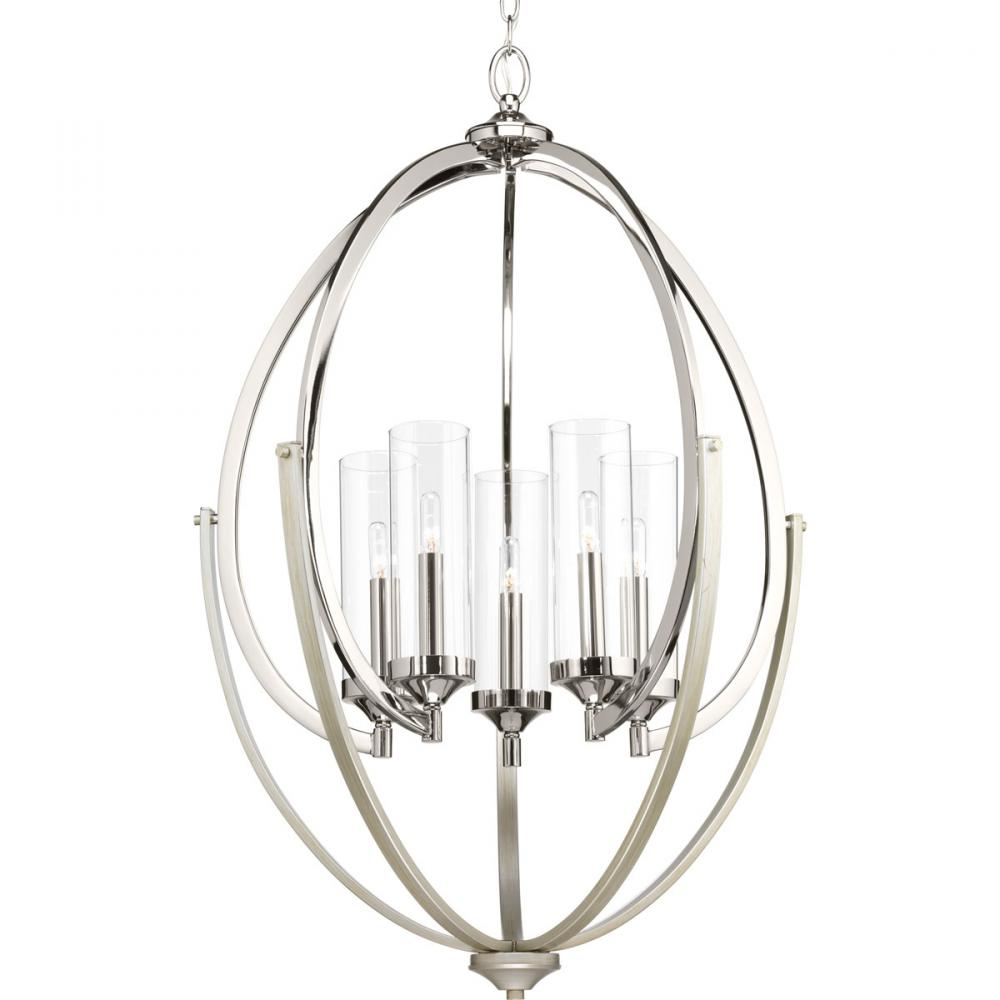 Progress Lighting P400025-104 6X60C(T) EvokeüPolished Chrome Chandelier