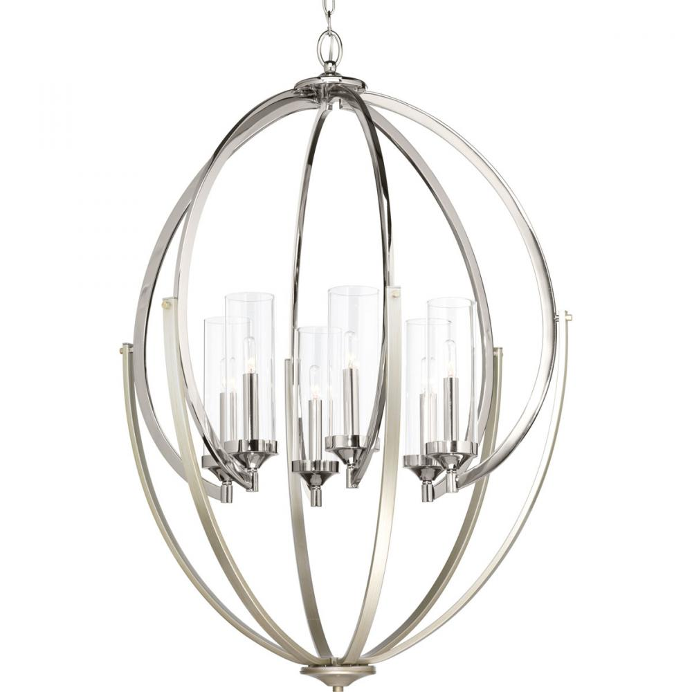 PRO P400026-104 6X60C Evoke Polished Nickel Chandelier
