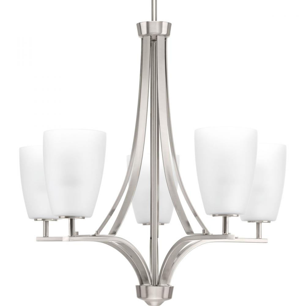 PRO P400043-009 5X100M Leap Brushed Nickel Chandelier