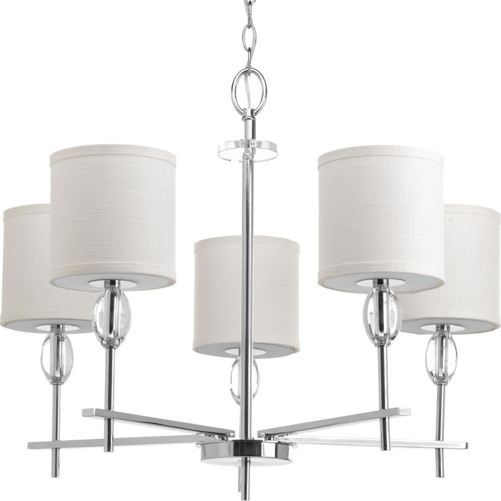 PRO P4141-15 5X100M Status Chrome Chandelier K9 Glass Accents