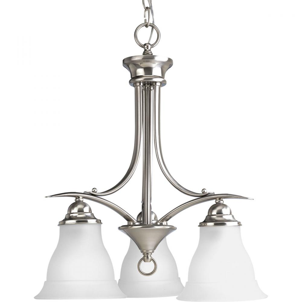 PRO P4324-09 3X100M Trinity Brushed Nickel Chandelier