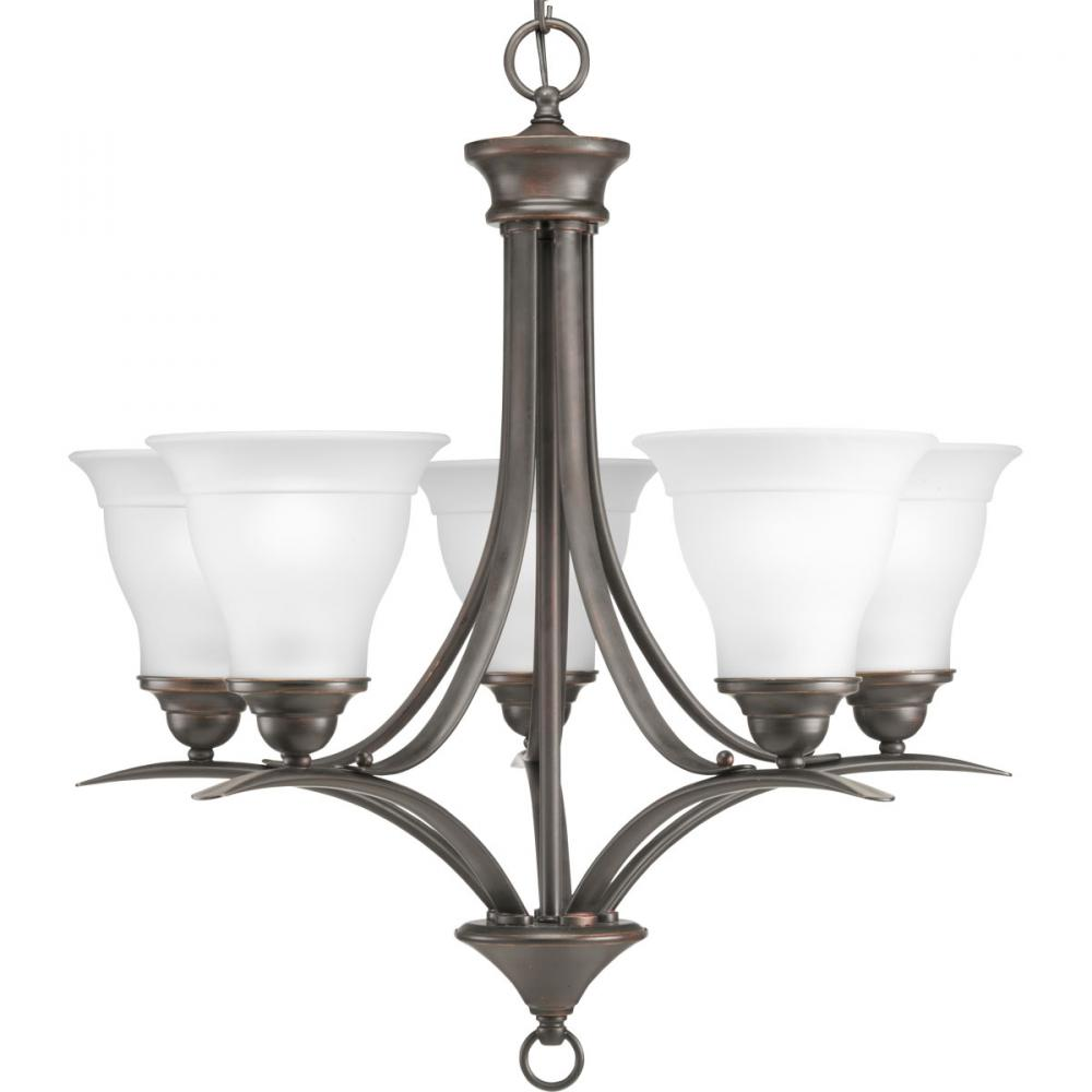 PRO P4328-20 5X100M Trinity Antique Bronze Chandelier