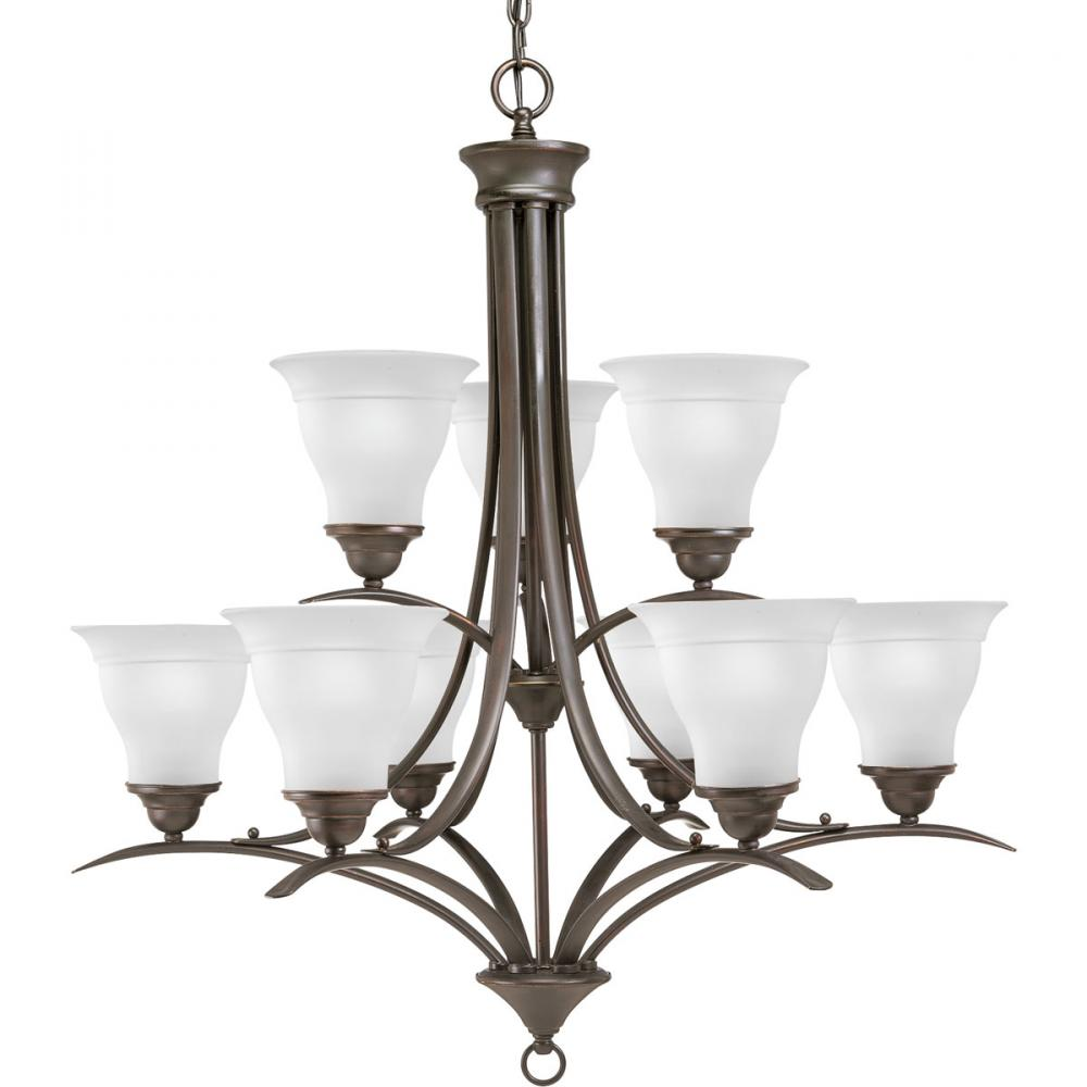 PRO P4329-20 9X100M Trinity Antique Bronze Chandelier