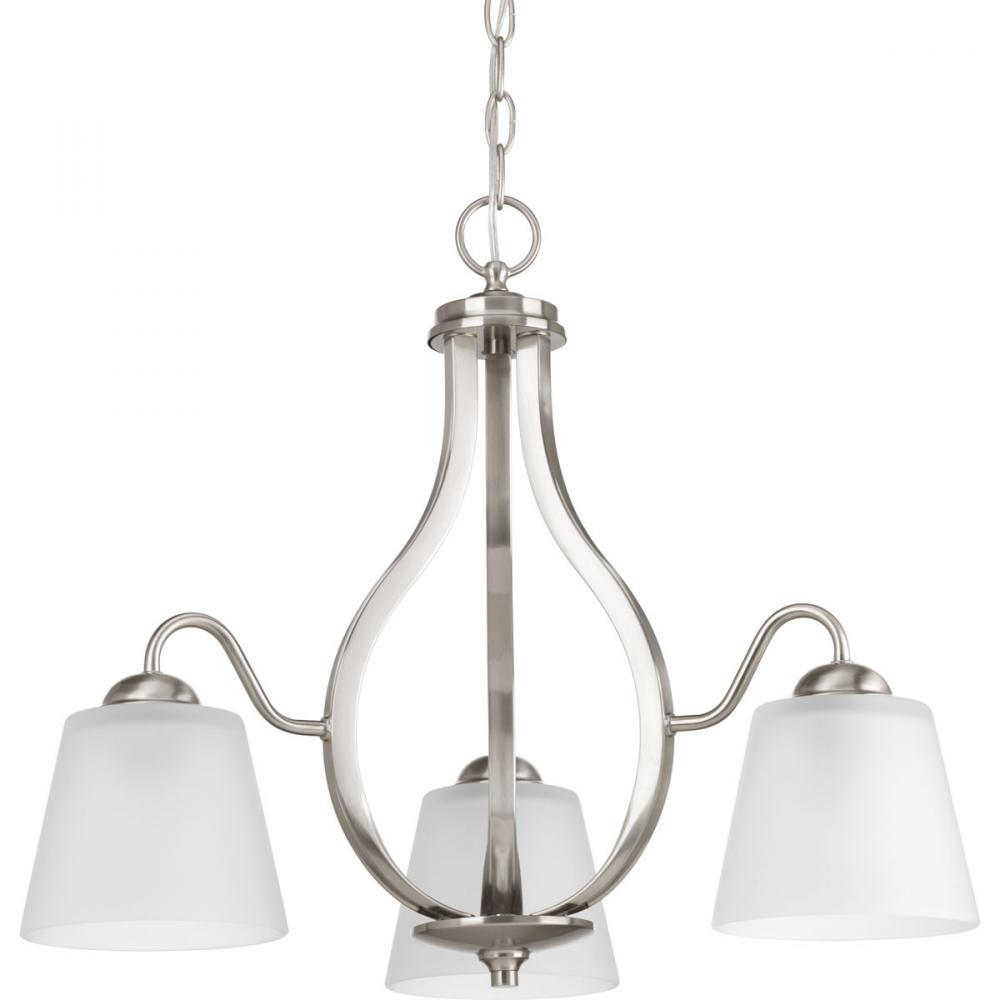 PRO P4745-09 3X100M Brushed Nickel Arden Chandelier