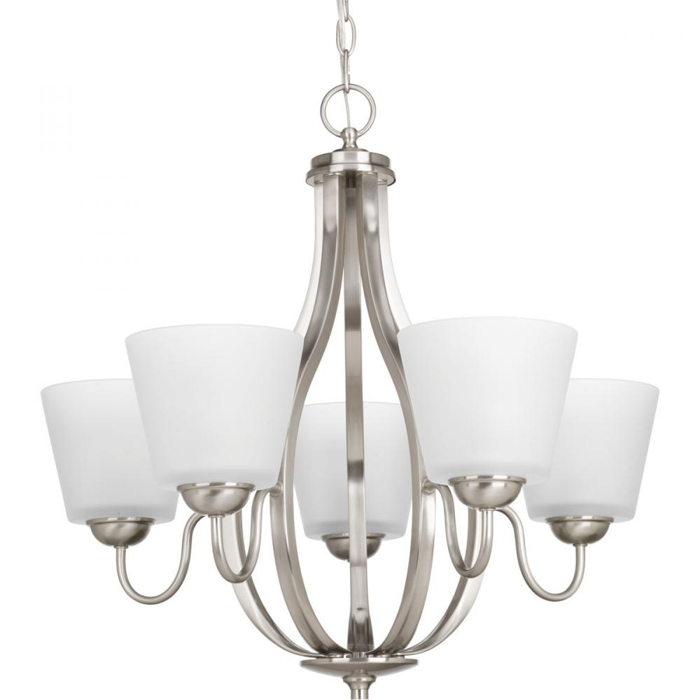 PRO P4746-09 5X100M Arden Brushed Nickel Chandelier