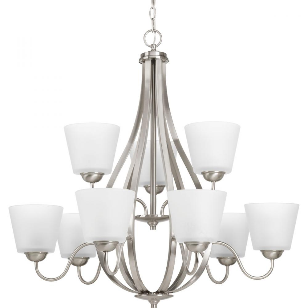 PRO P4747-09 9X100M Arden Chandelier Brushed Nickel