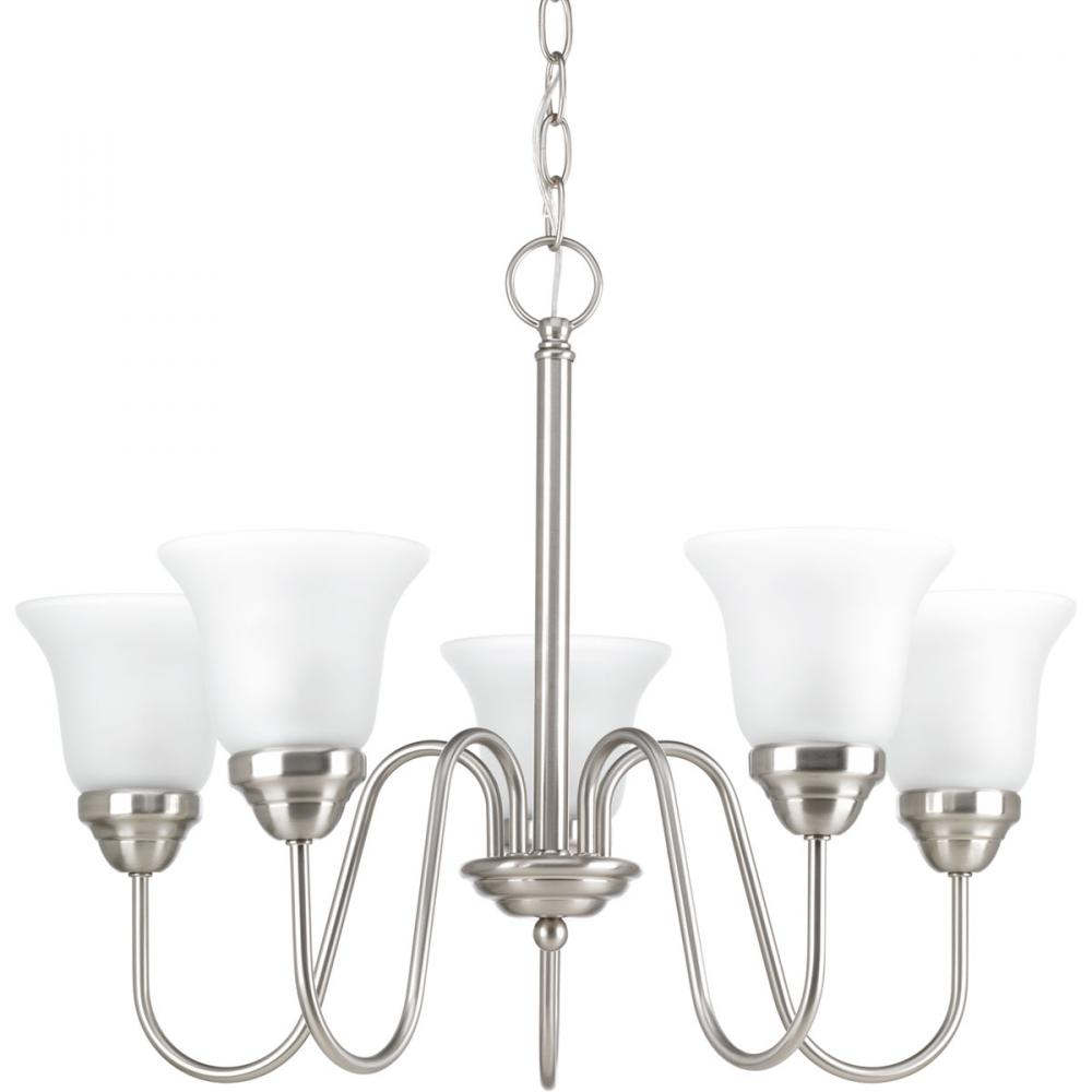 PRO P4757-09 5X100M Classic Brushed Nickel Chandelier