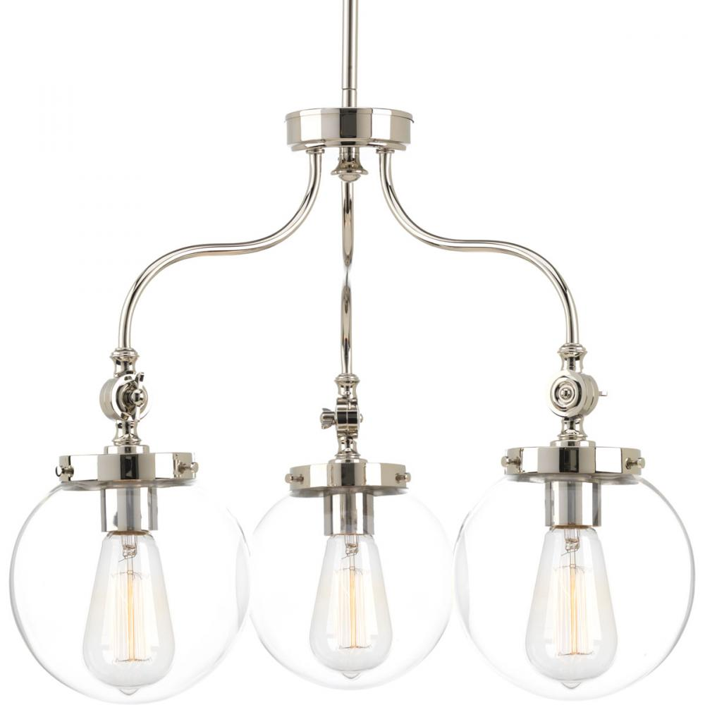 PRO P4769-104 3X100M Polished Nickel Penn Chandelier
