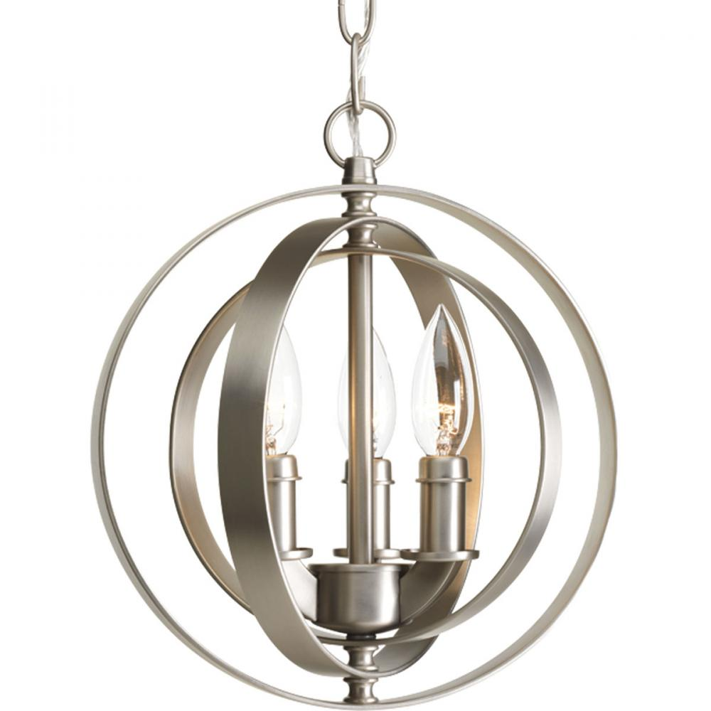 PRO P5142-126 Three Light Burnished Silver Equinox Pendant 3X60C