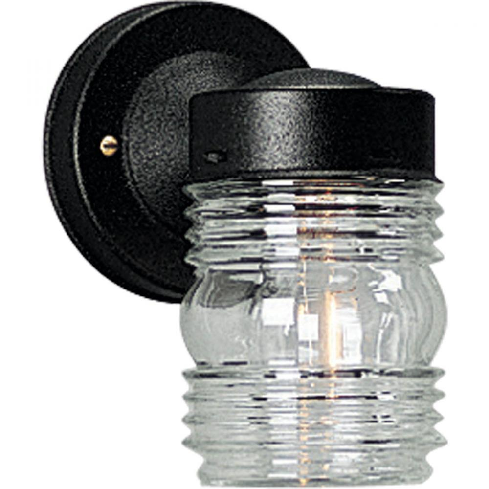 PRO P5602-31 1X75M Black Jelly Jar Outdoor Wall Light