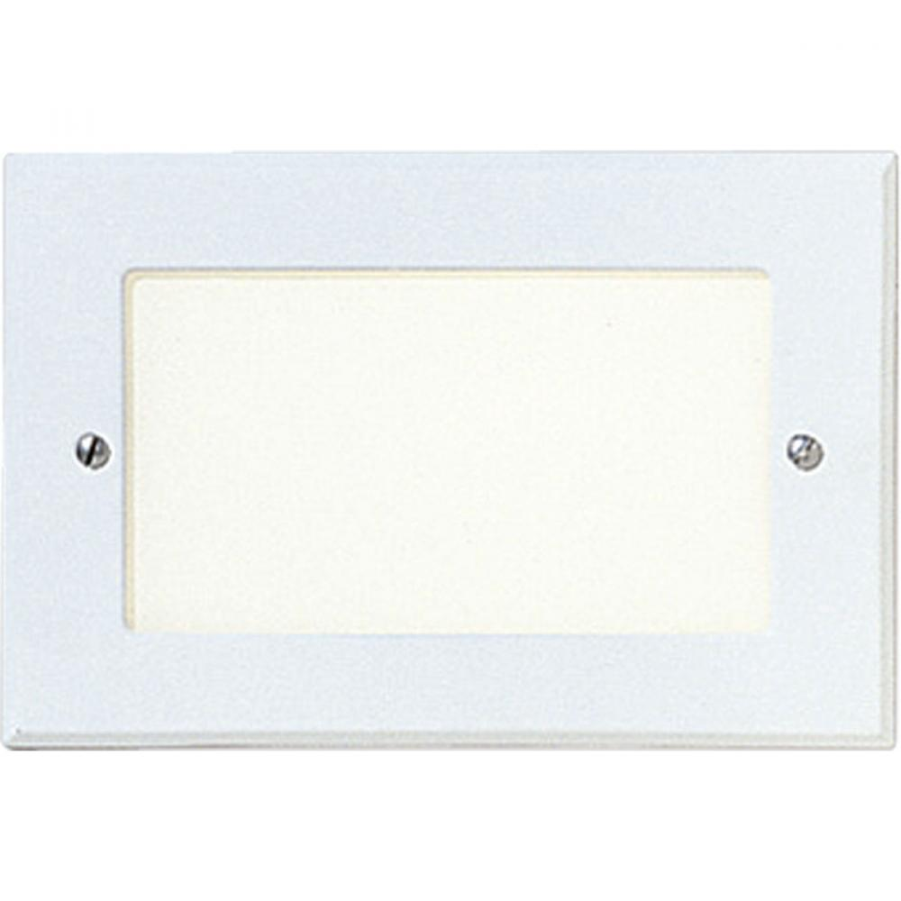 PRO P6824-30 One Light White White Glass Step Light 1X7G23