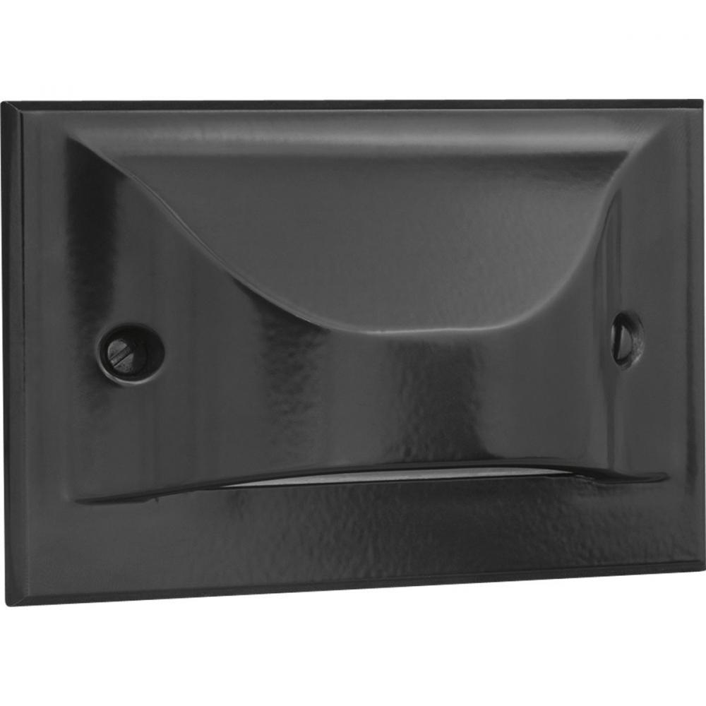 PRO P6832-3130K Black Horizontal Hood Step Wall Light 3000K 5W -MIM-