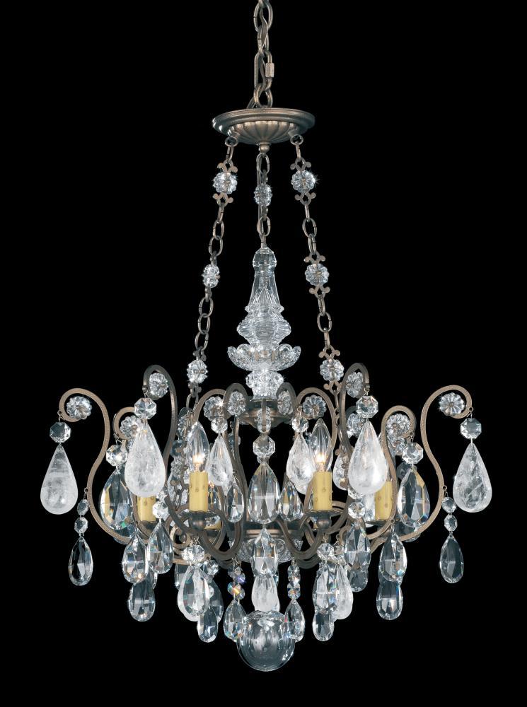 "SCH 3586-22AD Renaissance 6Lt Rock Crystal Chandelier 22""W x 29""H 60W B10 lamp not included"