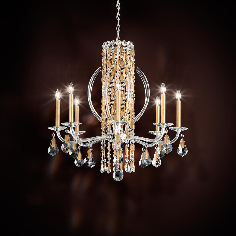 "SCH RS8308N-401H Sarella 8Lt Crystal Chandelier 30""W x 31""H 60W B10 lamp not included"