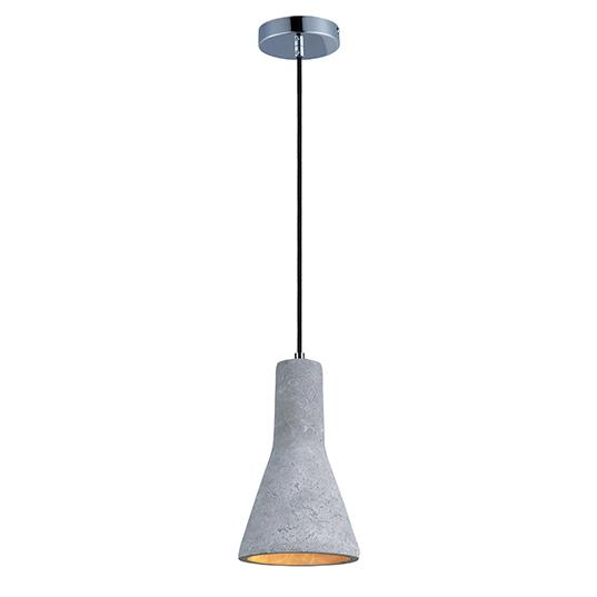 MAX 12394GYPC Crete-Single Pendant 1X5GU1 LED